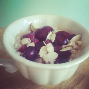 cherry almond oatmeal