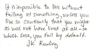 jk rowling advice