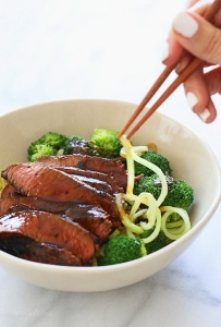 Spiralized Shanghai Beef and Broccoli